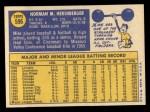 1970 Topps #596  Mike Hershberger  Back Thumbnail