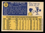 1970 Topps #646  Jim Britton  Back Thumbnail