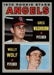 1970 Topps #74  Angels Rookie Stars  -  Greg Washburn / Wally Wolf Front Thumbnail