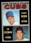 1970 Topps #429  Cubs Rookie Stars  -  Randy Bobb / Jim Cosman Front Thumbnail