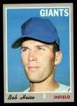 1970 Topps #478   Bob Heise Front Thumbnail