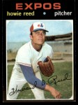 1971 Topps #398  Howie Reed  Front Thumbnail