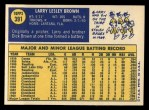 1970 Topps #391   Larry Brown Back Thumbnail
