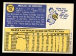 1970 Topps #406  Mike Andrews  Back Thumbnail