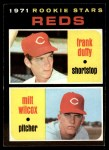 1971 Topps #164   Reds Rookie Stars  -  Frank Duffy / Milt Wilcox Front Thumbnail