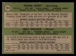 1971 Topps #164   Reds Rookie Stars  -  Frank Duffy / Milt Wilcox Back Thumbnail