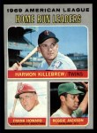 1970 Topps #66  1969 AL Home Run Leaders  -  Frank Howard / Reggie Jackson / Harmon Killebrew Front Thumbnail