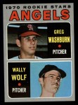 1970 Topps #74  Angels Rookies  -  Greg Washburn / Wally Wolf Front Thumbnail