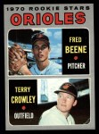 1970 Topps #121  Orioles Rookies  -  Fred Beene / Terry Crowley Front Thumbnail