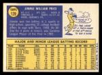 1970 Topps #129   Jim Price Back Thumbnail