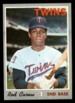 1970 Topps #290  Rod Carew  Front Thumbnail