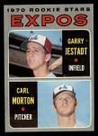 1970 Topps #109  Expos Rookies  -  Garry Jestadt / Carl Morton Front Thumbnail