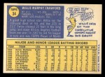 1970 Topps #34  Willie Crawford  Back Thumbnail