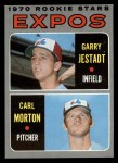 1970 Topps #109  Expos Rookie Stars  -  Garry Jestadt / Carl Morton Front Thumbnail