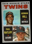 1970 Topps #267  Twins Rookie Stars  -  Herman Hill / Paul Ratliff Front Thumbnail