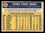 1970 Topps #328   George Brunet Back Thumbnail