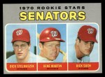 1970 Topps #599  Senators Rookies  -  Gene Martin / Dick Stelmaszek / Dick Such Front Thumbnail