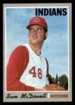1970 Topps #650   Sam McDowell Front Thumbnail