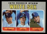 1970 Topps #669  White Sox Rookies  -  Bart Johnson / Dan Lazar / Mickey Scott Front Thumbnail