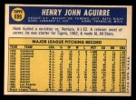 1970 Topps #699  Hank Aguirre  Back Thumbnail