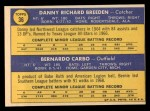 1970 Topps #36   -  Danny Breeden / Bernie Carbo Reds Rookies Back Thumbnail