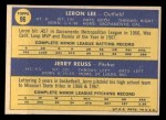 1970 Topps #96  Cardinals Rookies  -  Leron Lee / Jerry Reuss Back Thumbnail