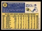 1970 Topps #287   Fred Talbot Back Thumbnail