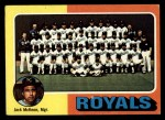 1975 Topps #72   -  Jack McKeon Royals Team Checklist Front Thumbnail