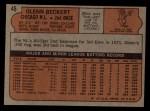 1972 Topps #45 ERR  Glenn Beckert Back Thumbnail