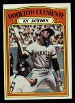 1972 Topps #310  In Action  -  Roberto Clemente Front Thumbnail