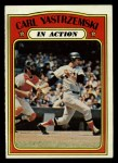 1972 Topps #38  In Action  -  Carl Yastrzemski Front Thumbnail