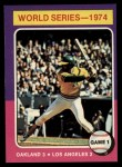 1975 Topps #461  1974 World Series - Game #1  -  Reggie Jackson Front Thumbnail