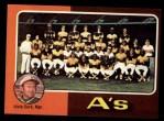1975 Topps #561  Athletics Team Checklist  -  Al Dark Front Thumbnail