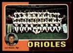 1975 Topps #117  Orioles Team Checklist  -  Earl Weaver Front Thumbnail
