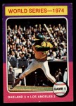 1975 Topps #461  1974 World Series - Game #1  -  Reggie Jackson Front Thumbnail