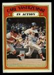 1972 Topps #38   -  Carl Yastrzemski In Action Front Thumbnail