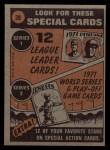 1972 Topps #38  In Action  -  Carl Yastrzemski Back Thumbnail