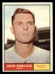1961 Topps #36   Jack Kralick Front Thumbnail