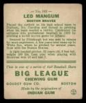 1933 Goudey #162  Leo Mangum  Back Thumbnail