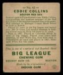 1933 Goudey #42   Eddie Collins Back Thumbnail