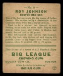 1933 Goudey #8   Roy Johnson Back Thumbnail