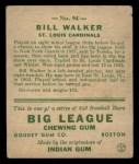 1933 Goudey #94   Bill Walker Back Thumbnail