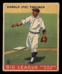 1933 Goudey #22   Pie Traynor Front Thumbnail