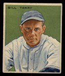 1933 Goudey #125   Bill Terry Front Thumbnail