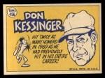 1970 Topps #456  All-Star  -  Don Kessinger Back Thumbnail