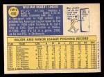 1970 Topps #490   Bill Singer Back Thumbnail