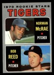 1970 Topps #207  Tigers Rookie Stars  -  Norman McRae / Bob Reed Front Thumbnail