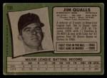 1971 Topps #731  Jim Qualls  Back Thumbnail