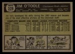 1961 Topps #328  Jim O'Toole  Back Thumbnail