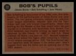 1962 Topps #72  Bob's Pupils  -  Steve Boros / Bob Scheffing / Jake Wood Back Thumbnail
